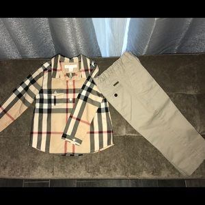 Burberry Kids button down and pants